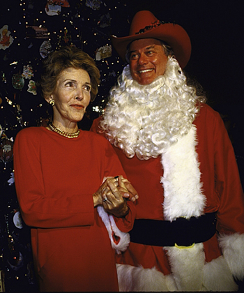 Larry Hagman Christmas at the White House 1985