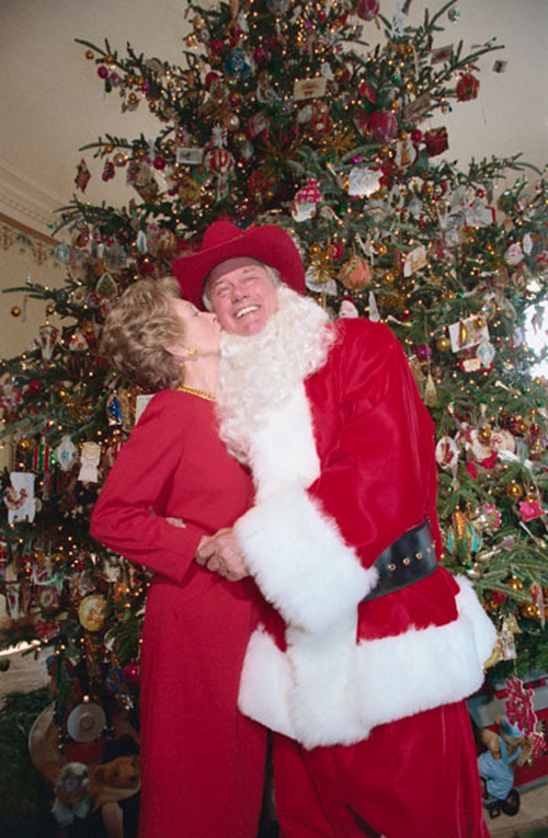 Larry Hagman Christmas the White House 1985